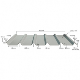 Steel Roof Sheet. Bs12b29 Juniper Green Plastic Coated Sheet 10ft (3050mm)