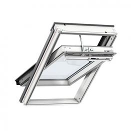 Velux Integra Electric Centre Pivot Roof Window 660mm X 1180mm White Painted Ggl Fk06 207021u