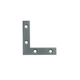4trade Angle Plates Zinc Plated 75mm (pack Of 4)