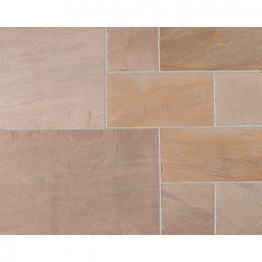 Marshalls Riven Fairstone Natural Sandstone Autumn Bronze Multi Paving Pack 560mm X 417mm X 22mm