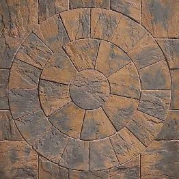 Marshalls Heritage Paving 2 Ring Circle Pack 2440x38mm Calder Brown