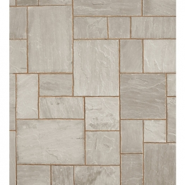 Indian Sandstone Paving - 15.23m2 5 Size Project Pack 22mm Calibrated