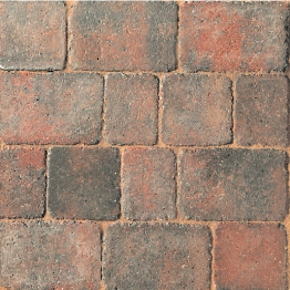 Marshalls Drivesett Duo Cinder/terracotta 160mm X 160mm X 50mm - Pack Of 420