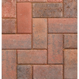 Marshalls Driveline 50 Concrete Block Paving Brindle 200mm X 100mm X 50mm