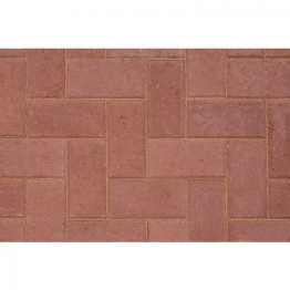 Marshalls Keyblock Concrete Block Paving Red 200mm X 100mm X 80mm