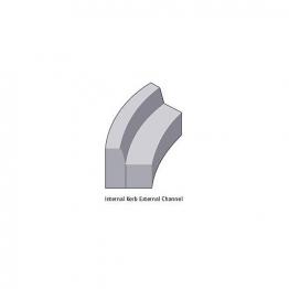 Concrete Kerb 125 X 255mm Half Battered Radius External 10m Bs7263.3 - Pack Of 16