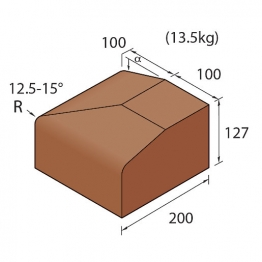 Marshalls Keykerb Kl Hbf Flat Angle External Charcoal