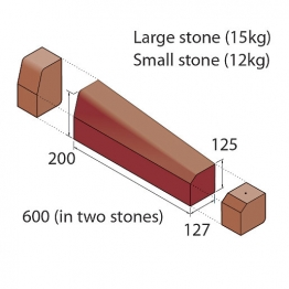 Marshalls Keykerb Klhb/ksbn Drop Crossing Kerb 2 Stones Lh Brindle