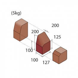 Marshalls Keykerb Klhb/kssp Drop Crossing Kerb 2 Stones Rh Charcoal