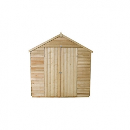 Overlap Pressure Treated Double Door Apex Shed 2133mm X 1524mm