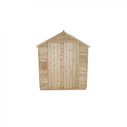 Overlap Pressure Treated Double Door Apex Shed 1829mm X 3048mm