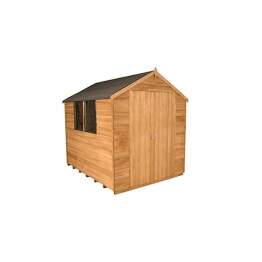 Overlap Dip Treated Double Door Apex Shed Double Doors 1829mm X 2439mm