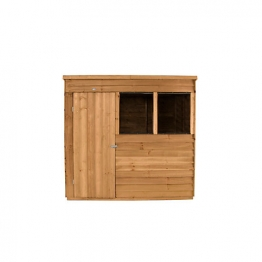 Overlap Dip Treated Pent Shed 2133mm X 1524mm