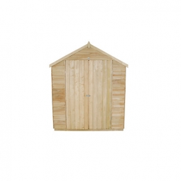 Overlap Pressure Treated Double Door Apex Shed 1829mm X 2438mm