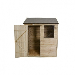 Overlap Pressure Treated Reverse Apex Shed 1829mm X 1219mm
