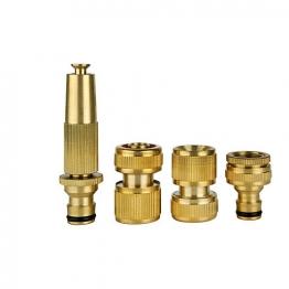 4trade Brass Hose Connector Set
