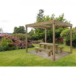 Pressure Treated Timber Dining Pergola (without Panels)