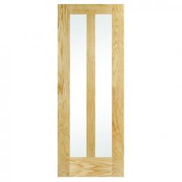 Hardwood 2 Panel Oak Glazed Internal Door Height 1981mm