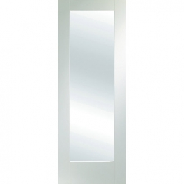 Moulded White Primed Pattern 10 With Obsure Glass Internal Door Height 1981mm