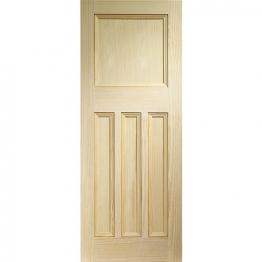 Softwood Dx Vertical Grained Clear Pine Internal Door Height 1981mm
