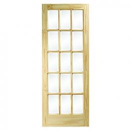 Softwood Sa77 15 Light Glazed Clear Pine Internal Door Height 1981mm