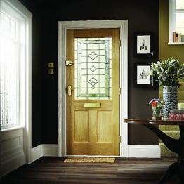 External Oak Avon Veneer Double Glazed