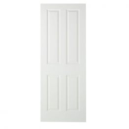 44mm Internal Moulded 4 Panel Smooth Fire Door. Imperial 6'6