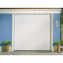 Garador Georgian Grain White Garage Door 1981mm X 2134mm