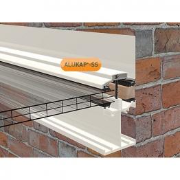 Alukap-ss Low Profile Wall Bar 4.8m White