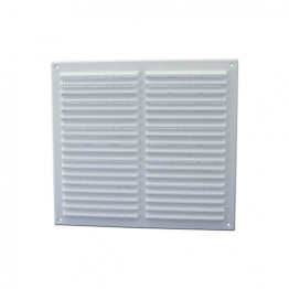 Rytons '9 X 9' Louvre Ventilator With Flyscreen - White