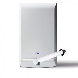 Baxi Platinum 28kw Combi Boiler & Standard Horizontal Flue Pack Erp