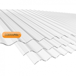 Corrapol Clear Corrugated Sheet 840mm X 1830mm