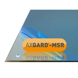Axgard Msr Mirror Glazing Sheet 3mm 360 X 495mm With Quarter Round Cnc Edge And Corner Holes