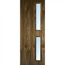 Internal Flush Walnut Veneer Fd30 Door 16g Glz Clr 2040mm X 826mm X 44mm