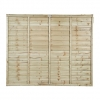 Super Lap Pressure Treated Fence Panel 1828mm X 1524mm