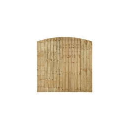 Forest Garden Contractor Pressure Treated Fence Panel Domed Top 1828mm X 1520mm