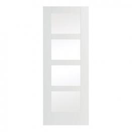 Moulded Suffok Glazed White Internal Door 1981mm X 838mm X 35mm