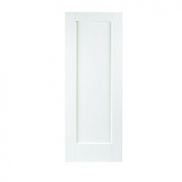 Moulded White Primed Shaker 1 Panel Internal Door 1981mm X 762mm X 35mm