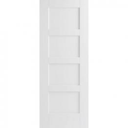 Moulded White Primed Shaker 4 Panel Internal Door 1981mm X 762mm X 35mm