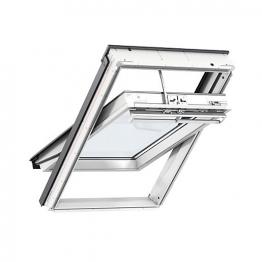 Velux Integra Solar Roof Window 550mm X 980mm White Polyurethane Ggu Ck04 007030