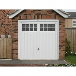 Garador Salisbury Type C Steel Up & Over Garage Door White 2134mm X 2134mm