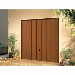 Garador Sherwood Type C Steel Up & Over Garage Door 1981mm X 2134mm Golden Oak