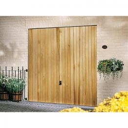 Garador Vertical Cedar Type C Timber Up & Over Garage Door 1981mm X 2134mm