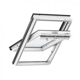 Velux Centre Pivot Roof Window 1140mm X 1180mm White Polyurethane Ggu Sk06 0070q