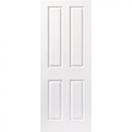 Moulded 4 Panel Grained Fd30 Internal Fire Door 1981mm X 838mm X 44mm