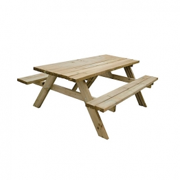 Forest Garden Large Rectangular Picnic Table