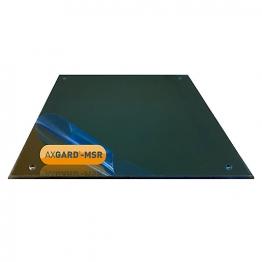 Axgard Msr Mirror Glazing Sheet 3mm 740 X 320mm With Quarter Round Cnc Edge And Corner Holes
