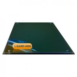 Axgard Msr Mirror Glazing Sheet 6mm 740 X 320mm With Quarter Round Cnc Edge And Corner Holes