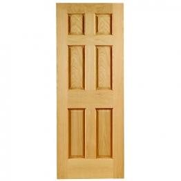 Hardwood Oak Colonial 6 Panel Non Raised Mouldings Internal Door 1981mm X 838mm X 35mm