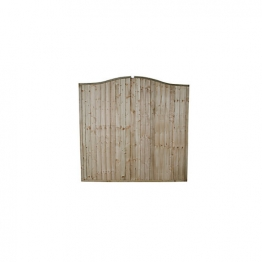Pressure Treated Board Wave Fence Panel 1830mm X 1830mm